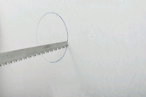 Cutting a round hole in drywall